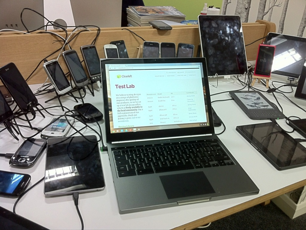 Clearleft device lab