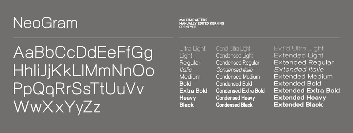 neogram font